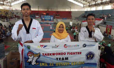 Atlet Tae Kwon Do SMK Al Husain Keling Meraih Medali Emas dan Perak di Kejurnas Lampung